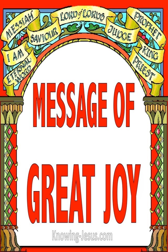 Message of Great Joy (devotional) (red)