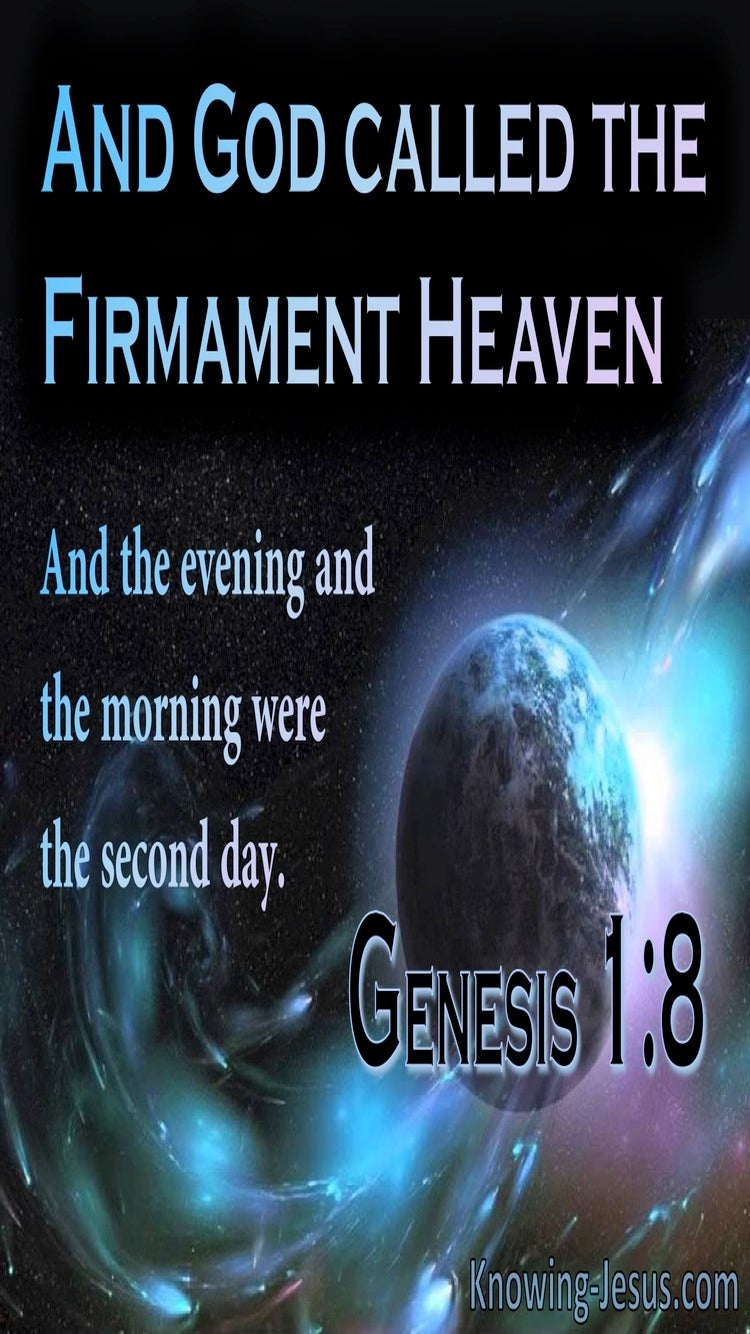 Genesis 1:8 God Called The Firmament, Heaven (blue)