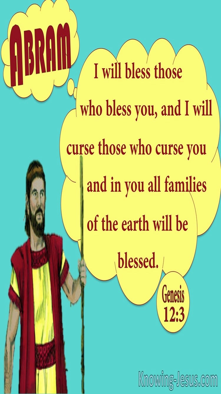 Genesis 12:3 I will Bless Those Who Bless You (aqua)