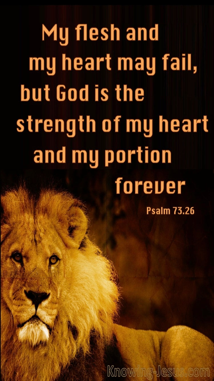 Psalm 73:26 God Is The Strength Of My Heart (black)
