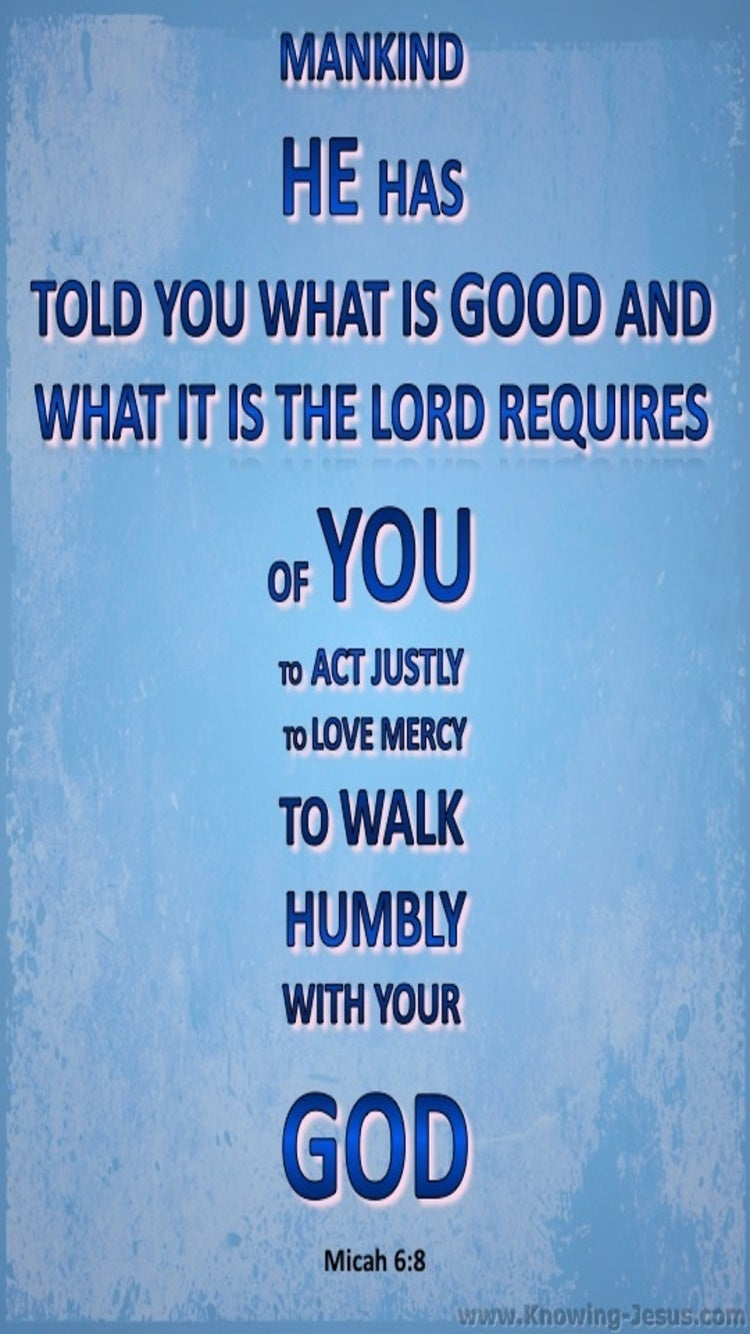 Micah 6:8 What God Requires (blue)