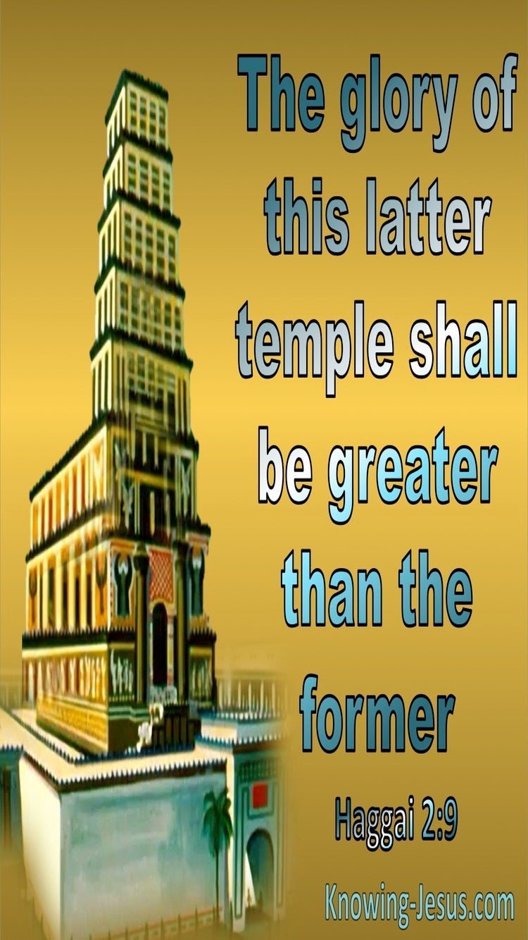 Haggai 2:9 The Glory Of The Latter Temple (gold)