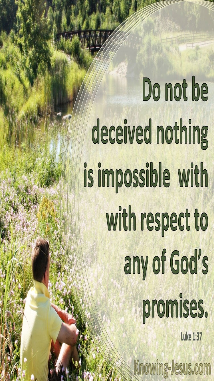 Luke 1:37 Nothing Is Impossible With God (green)