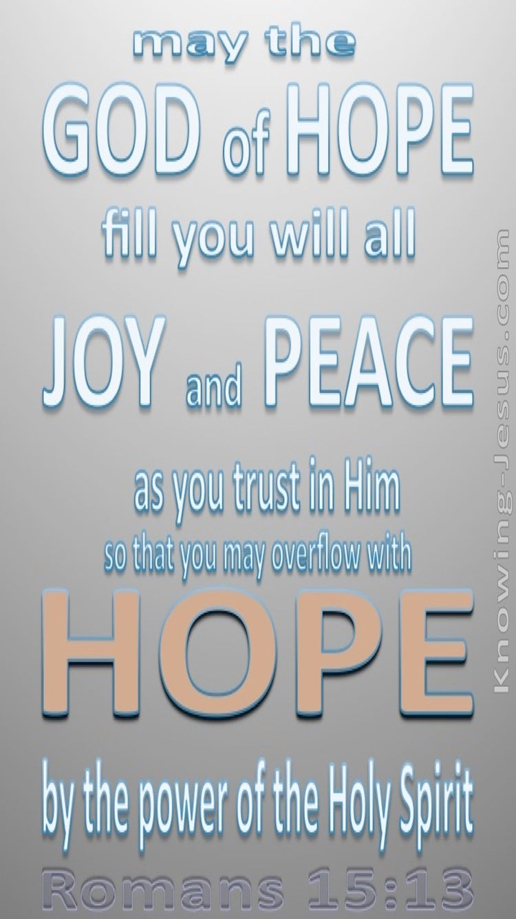 Romans 15:13 God Of Hope (gray)
