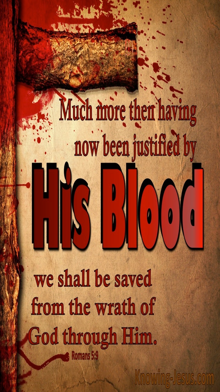 Romans 5:9 We WIll Be Saved From Wrath (brown)