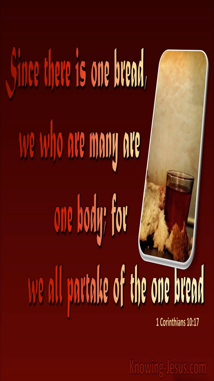1 Corinthians 10:17 There Is One Bread And One Body (red)