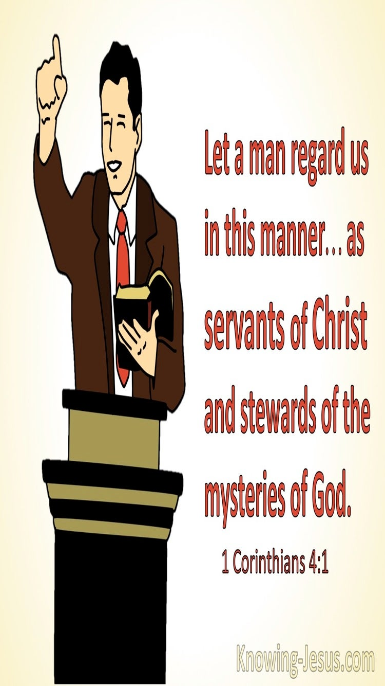 1 Corinthians 4:1 Regard Us As Servants Of Christ And Stewards Of The Mysteries Of God (red)