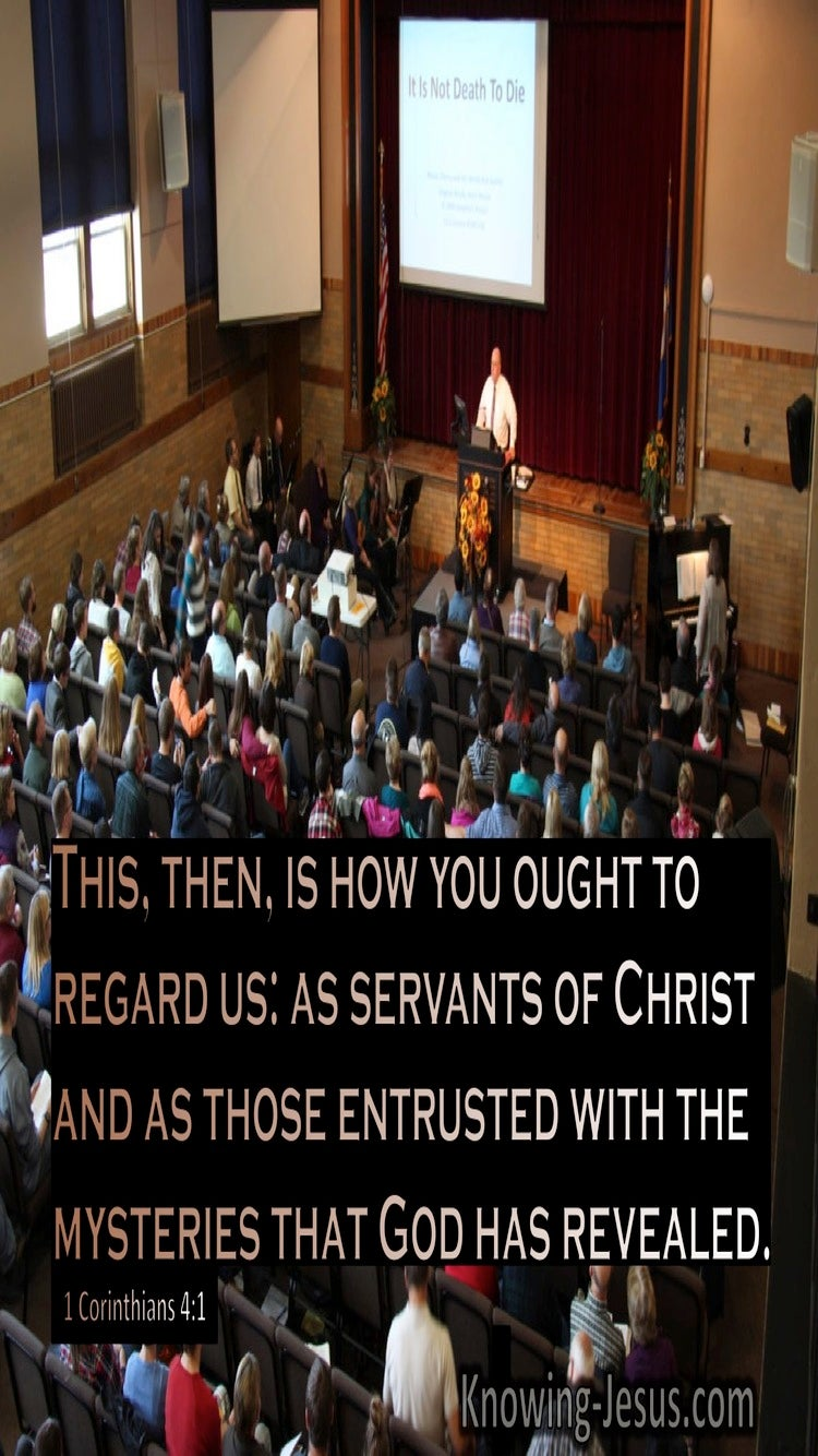 1 Corinthians 4:1 This Is How You Ought To Regard Them (brown)