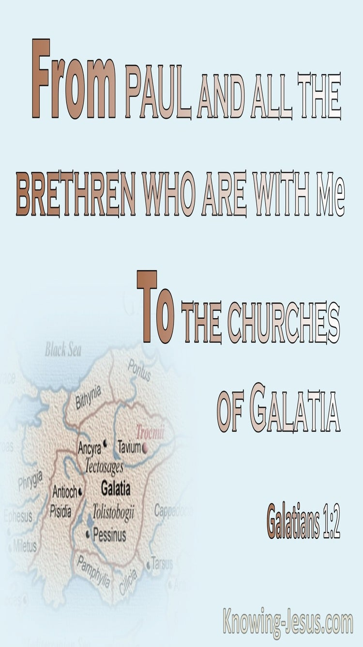 Galatians 1:2 To The Churches Of Galatia (brown)
