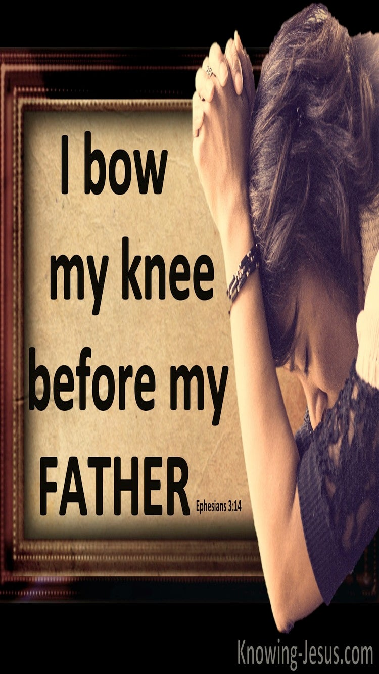 Ephesians 3:14 Bow The Knee Before The Father (brown)