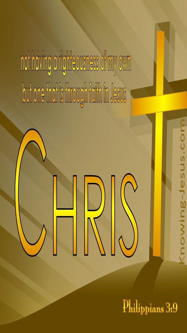Philippians 3:9 Righteousness Of Christ (yellow)