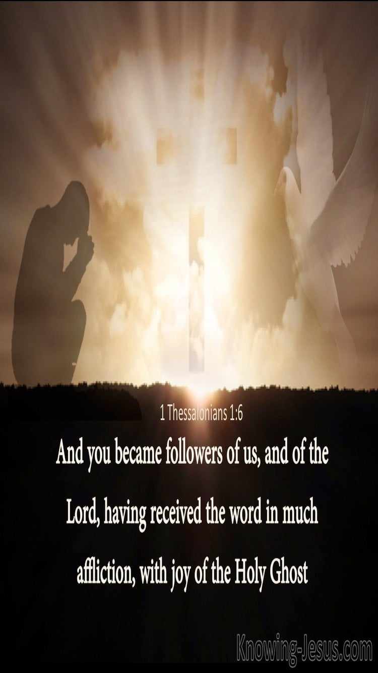 1 Thessalonians 1:6 Followers Of Paul And The Lord (brown)