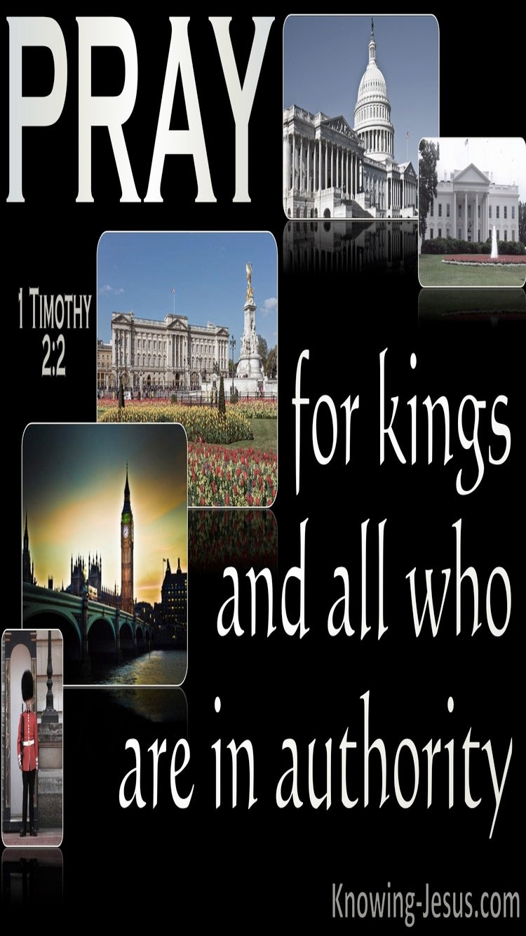 1 Timothy 2:2 Pray For Kings And All In Authority (black)