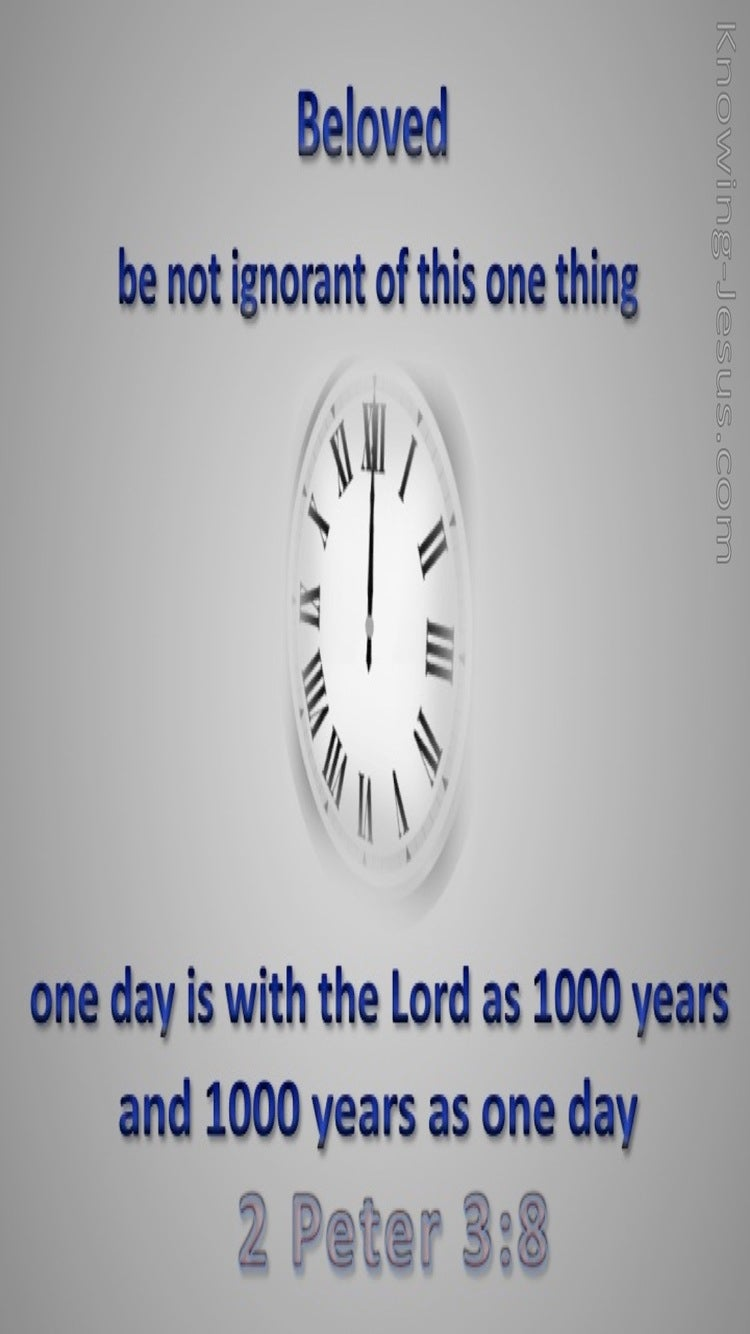 2 Peter 3:8 One Day Is As 1000 Years (gray)