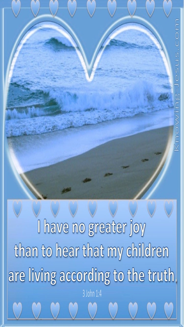 3 John 1:4 No Greater Joy (blue)