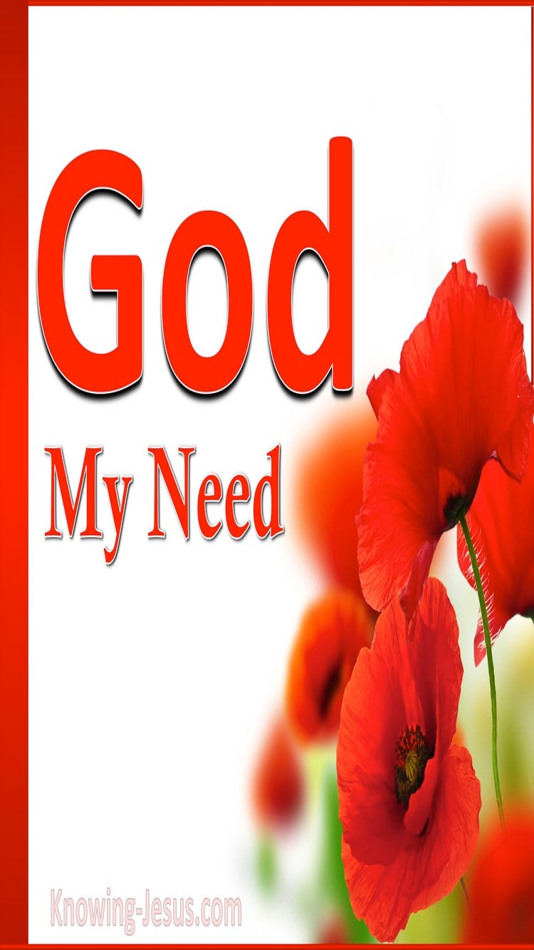God, My Need (devotional) (red)