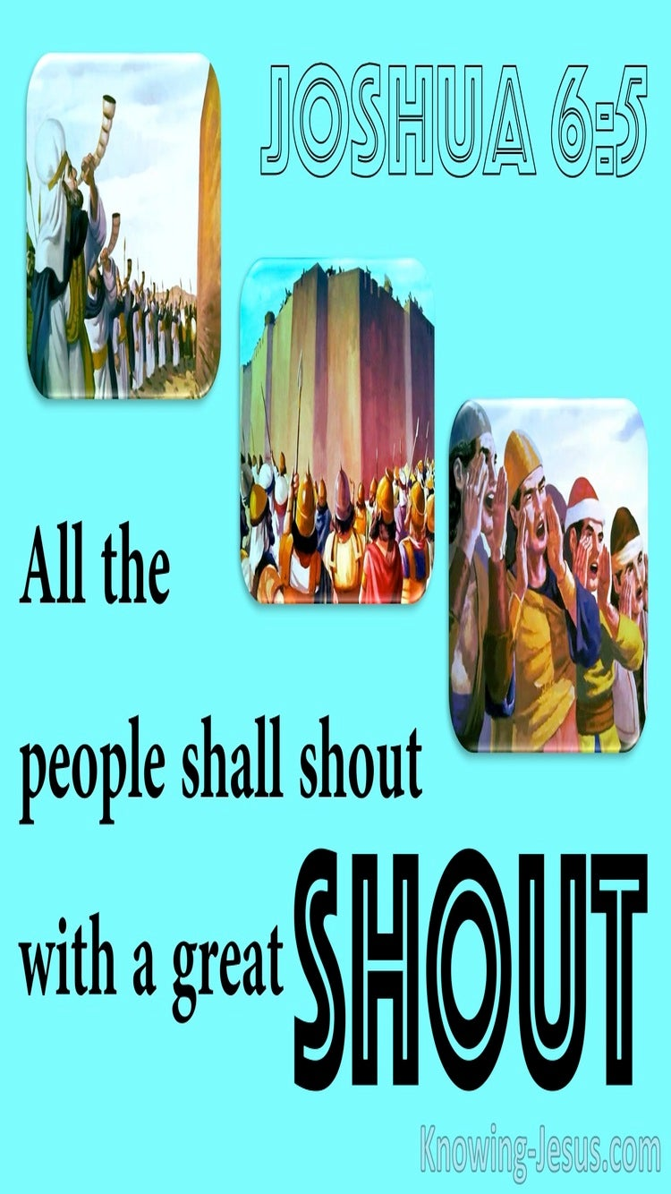 Shout Of Faith (devotional) (blue) - Joshua 6:5