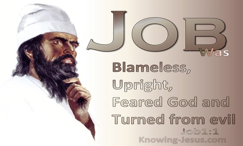 Job 1:1 Job Was Blameless; Upright And Feared God (brown)