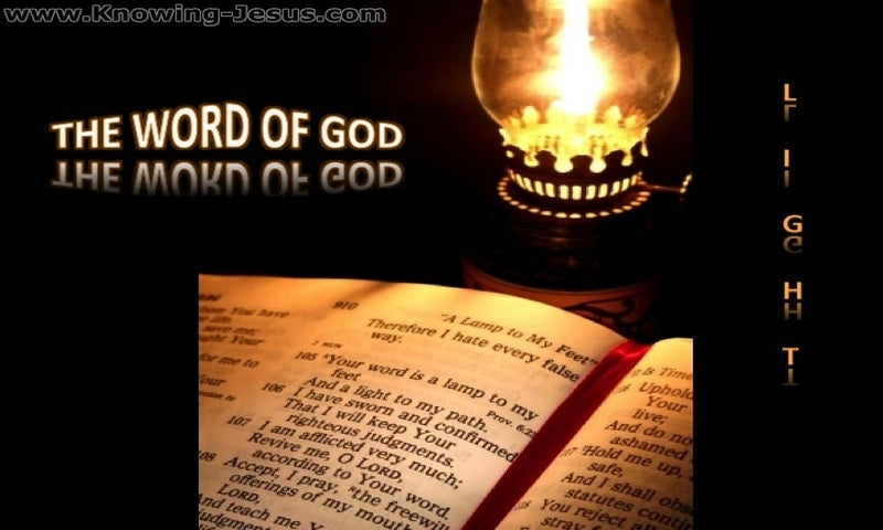Psalm 119:105 Thy Word Is Light (black)