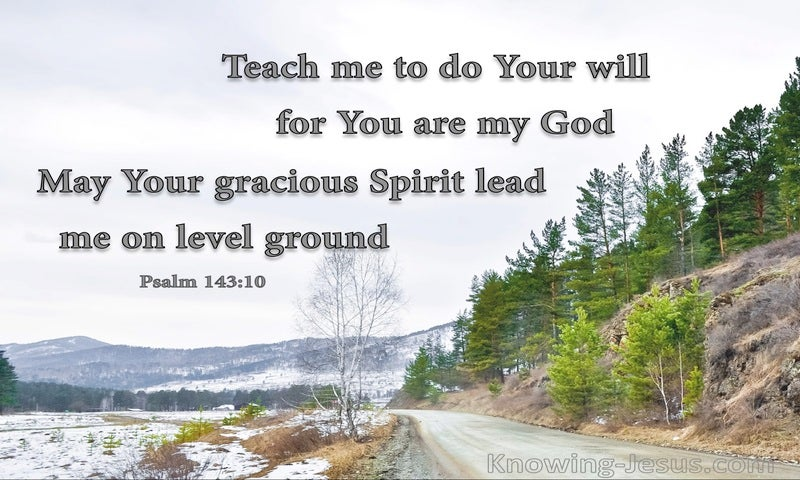 Psalm 143:10 Teach Me To Do Your Will (gray)