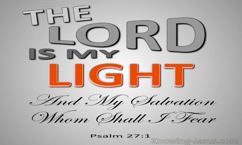Psalm 27:1 The Lord My Light (gray)