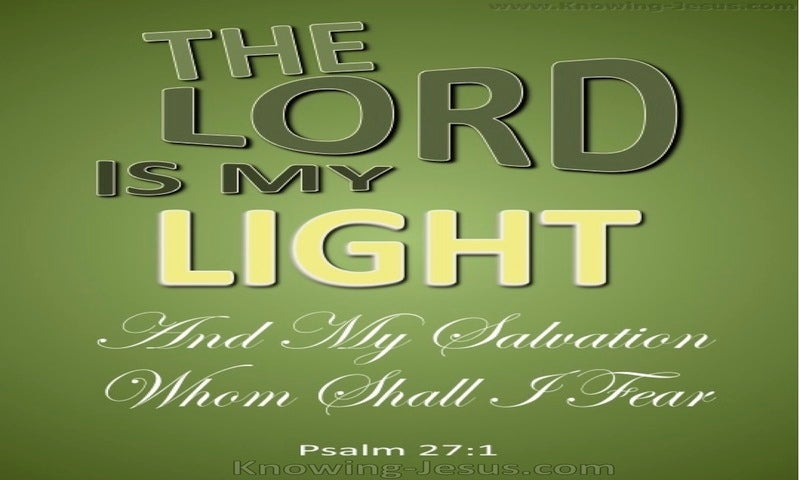 Psalm 27:1LOGO  The Lord My Light (green)