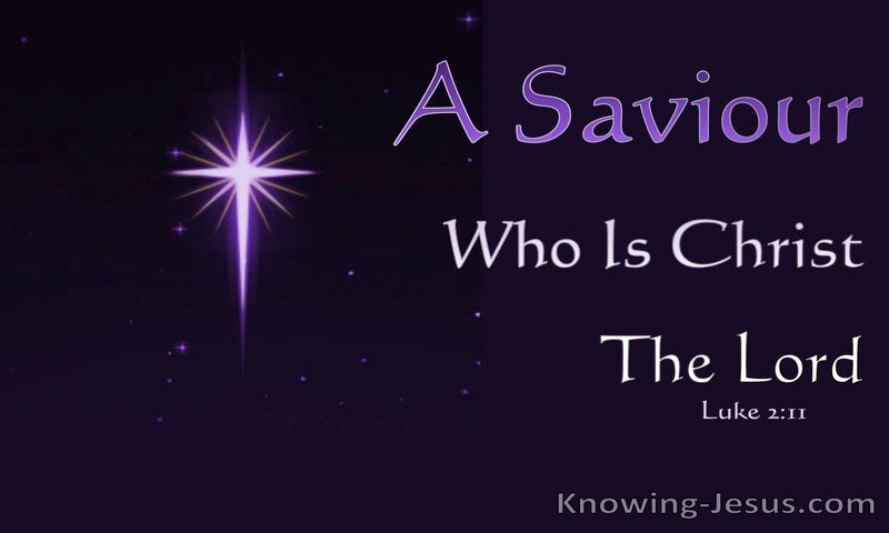 Luke 2:11 A Saviour Who Is Christ The Lord (purple)
