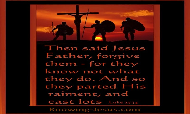 Luke 23:34 Father Forgive (black)