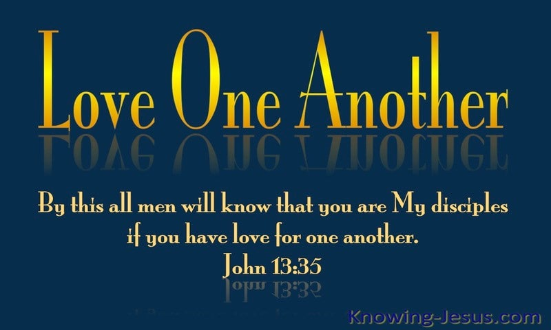 John 13:35 Love One Another (yellow)