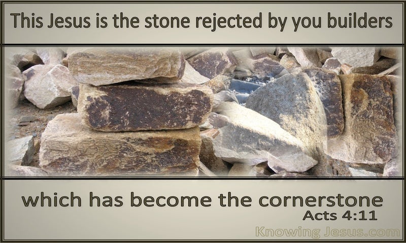 Acts 4:11 The Stone The Builders Rejected (beige)