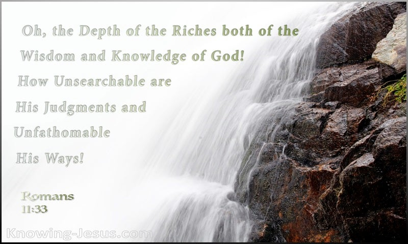 Romans 11:33 The Depth Of the Riches Of God (green)