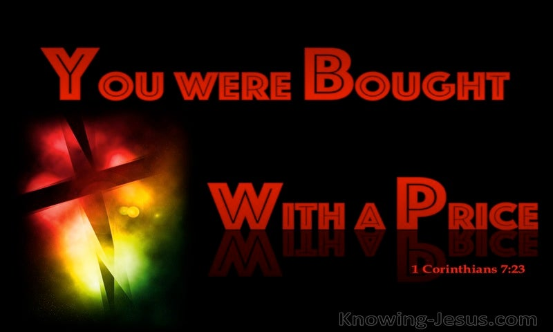 1 Corinthians 7:23 You Were Bought With A Price (red)