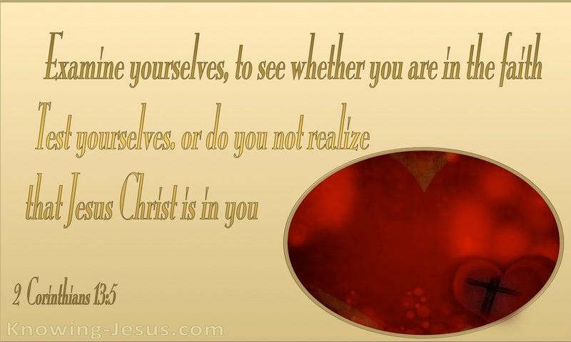 2 Corinthians 13:5 Examine Yourselves (yellow)
