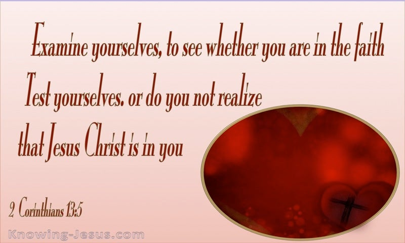 2 Corinthians 13:5 Examine Yourselves (red)
