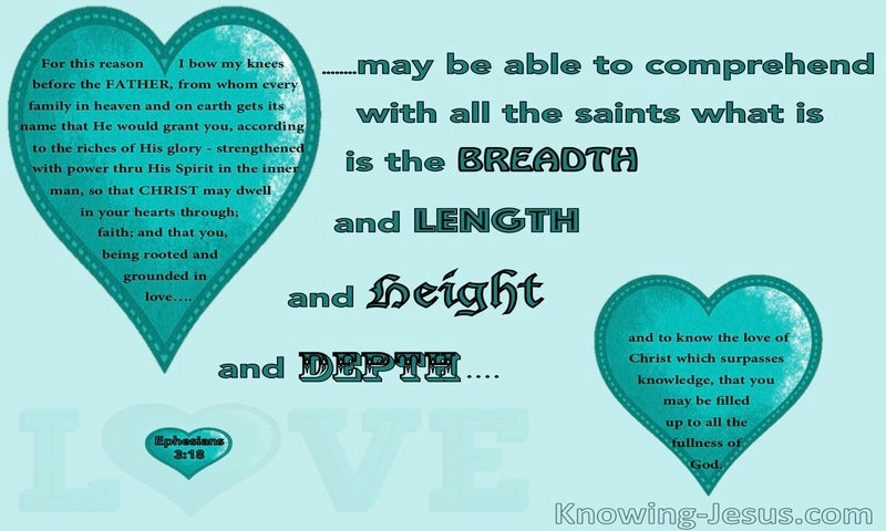 Ephesians 3:18 Beloved of God (aqua)