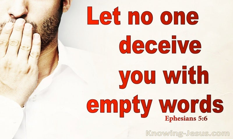 Ephesians 5:6 Let No One Deceive You With Empty Words (red)