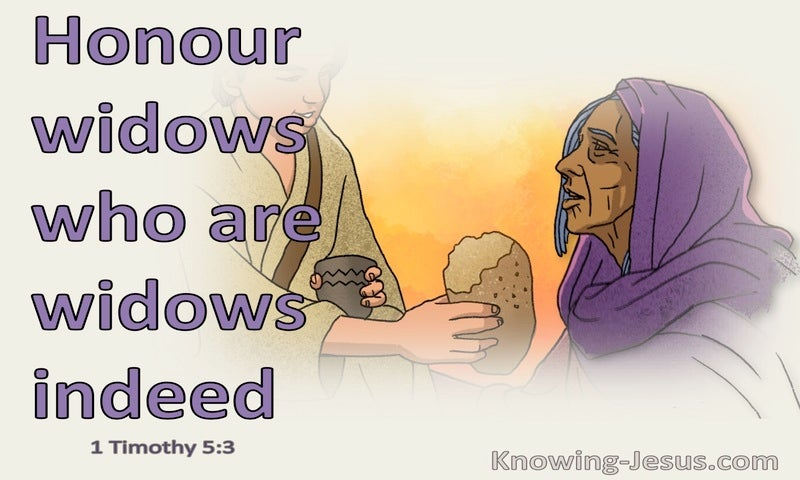 1 Timothy 5:3 Honour Widows Who Are Widows Indeed (purple)