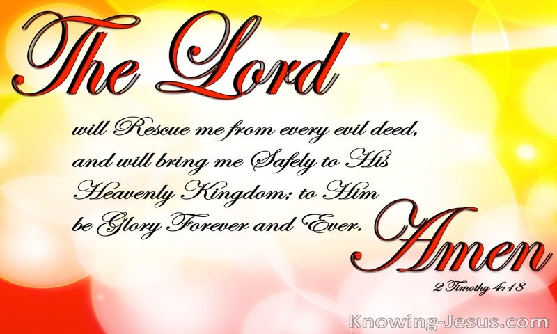 2 Timothy 4:18 The Lord Will Rescue Me (red)