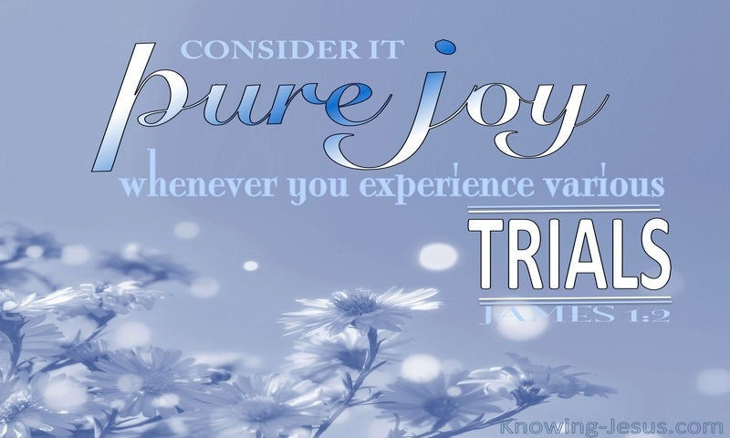 James 1:2 Consider It Pure Joy (white)