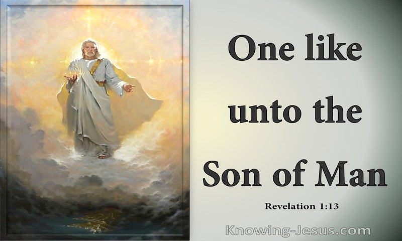Revelation 1:13 One Like To The Son Of Man (gray)