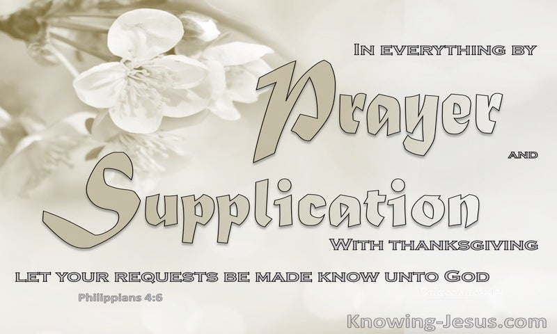 Let Us Pray (devotional) (beige) - Philippians 4:6