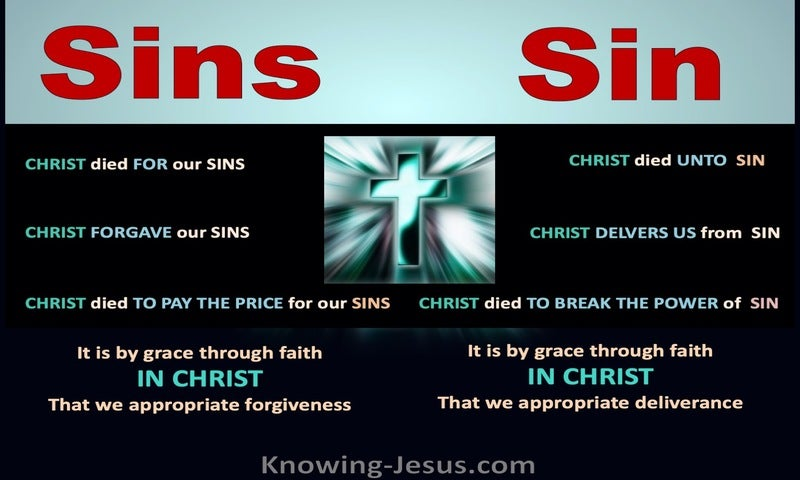 Romans 6:10Sins and Sin (devotional)11:25 (black)