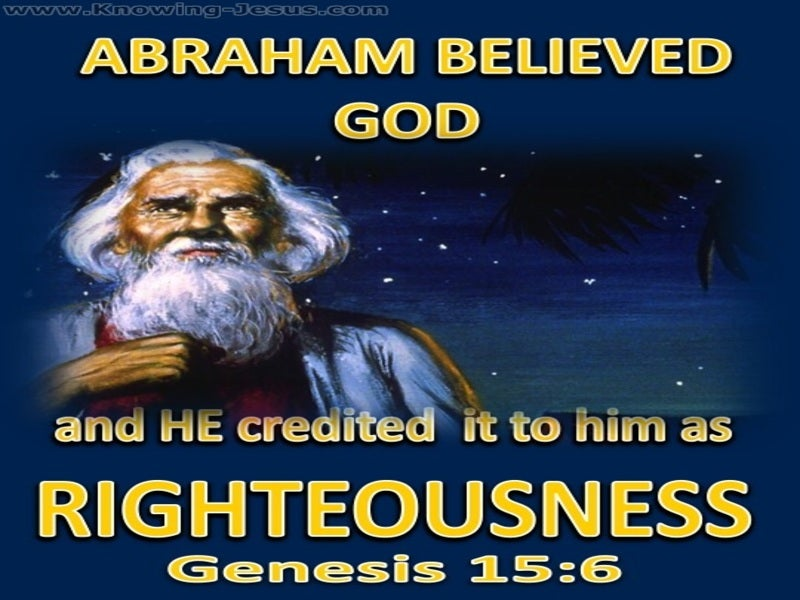 Genesis 15:6 Abraham Believed God (blue)