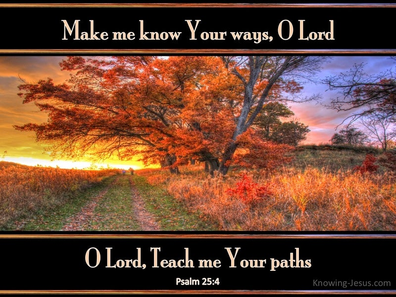 Psalm 25:4 Make Me Know Your Ways (black)