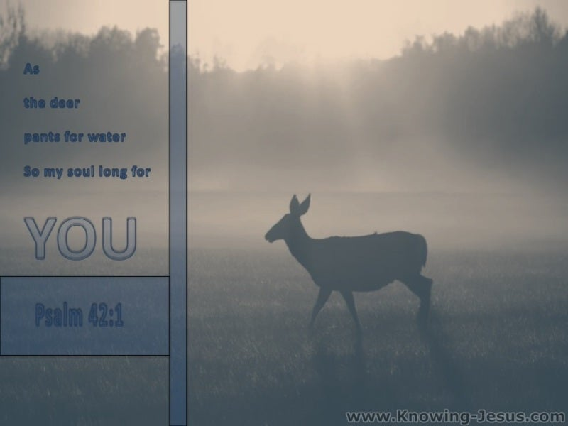 Psalm 42:1 As The Deer Pants For Water (gray)
