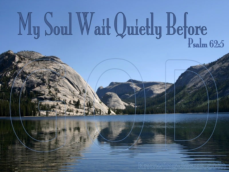 The Soul in Waiting (devotional) (blue) - Psalm 62:5