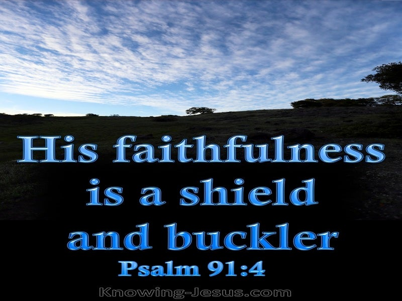 Psalm 91:4 He Will Cover You With His Pinions (blue)