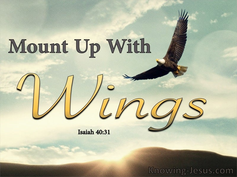 Isaiah 40:31 Those Who Trust In The Lord Will Mount Up (aqua)