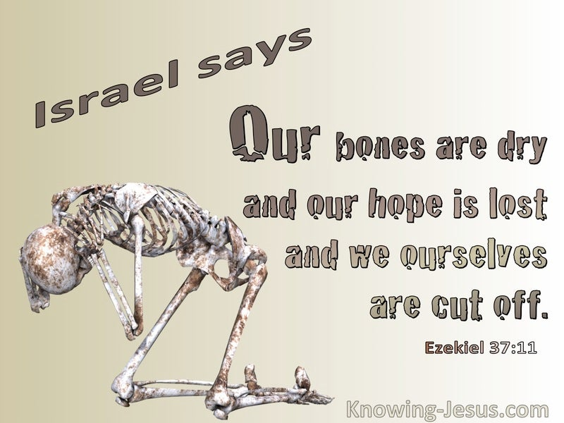Ezekiel 37:11 Our Bones Are Dry  (brown)