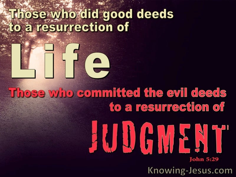 John 5:29 Life or Judgement (red)
